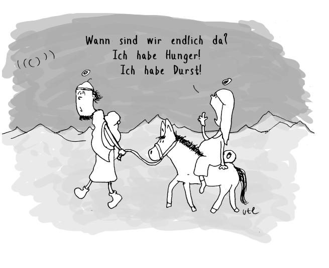 cartoon-maria-josef-wann-sind-wir-da-ute-hamelmann