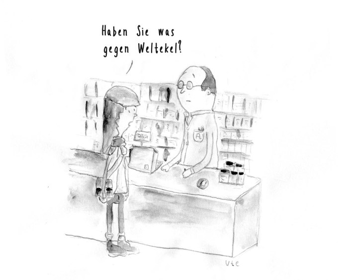 Cartoon Weltekel von Ute Hamelmann