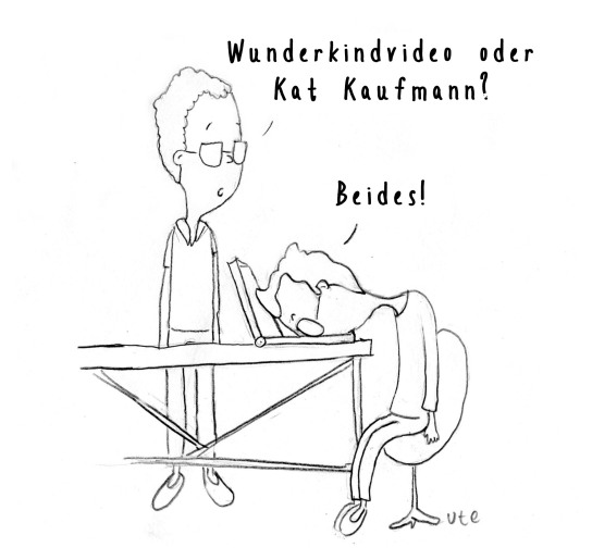 Cartoon Kat Kaufmann, Wunderkinder