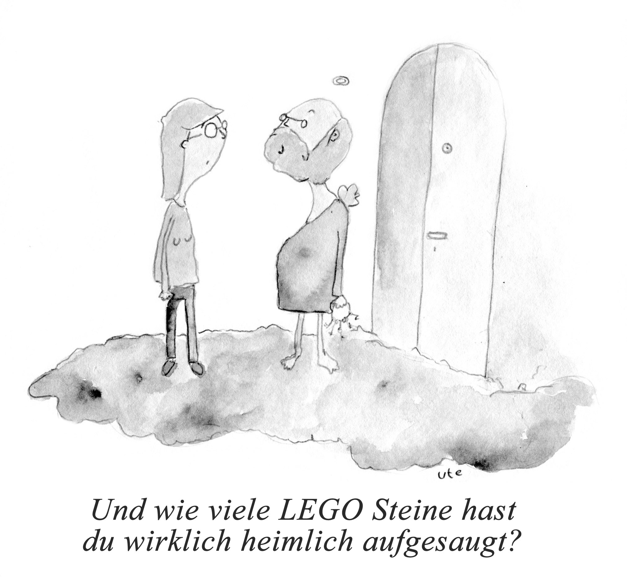 Cartoon Lego Gott Staubsauger