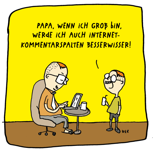 Cartoon Internet Kommentare Besserwisser