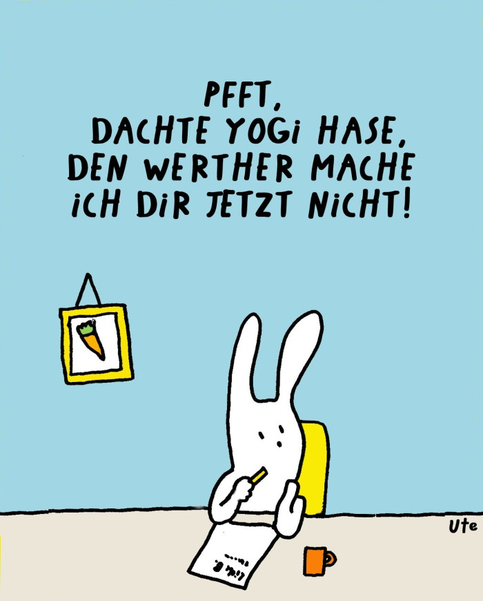 Cartoon Yogi Hase Werther