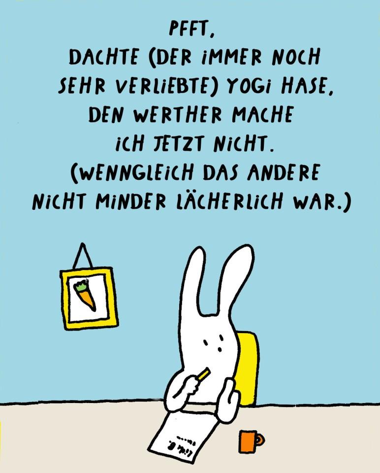 Yogi Hase Liebesbrief Cartoon Werther by Ute Hamelmann