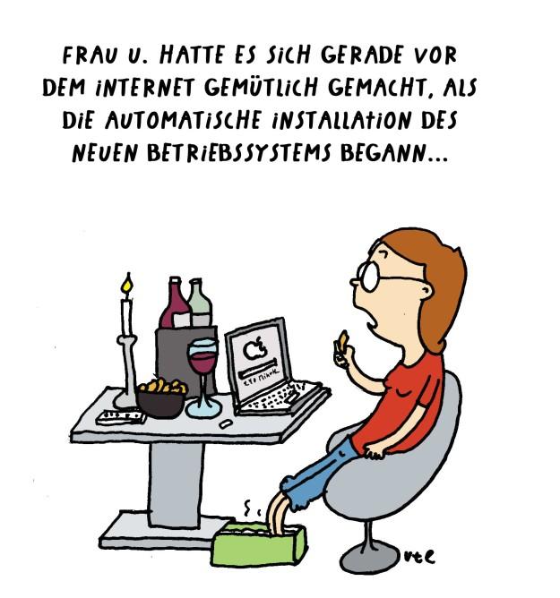 Cartoon Ute Hamelmann Betriebssystem