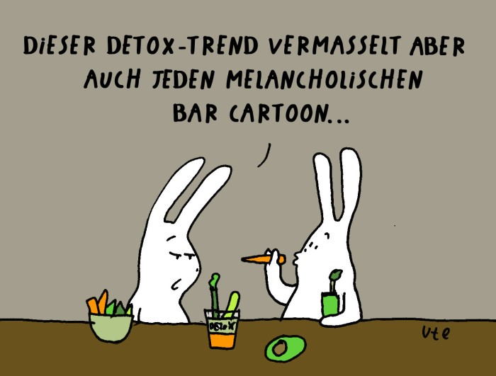 Bar Hasen Cartoon Comic Detox Drinking