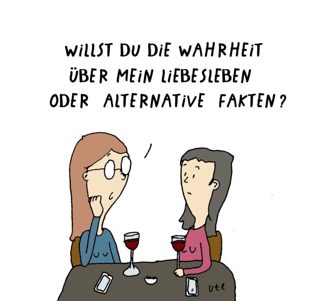Cartoon Ute Hamelmann Alternative Fakten