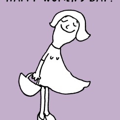 Cartoon Comic Happy Women's Day Weltfrauentag