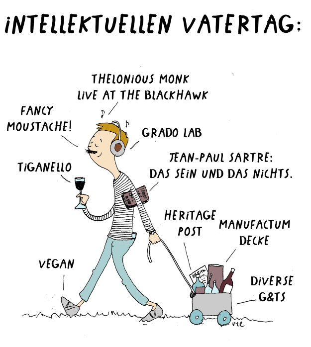 Cartoon Vatertag für Intellektuelle