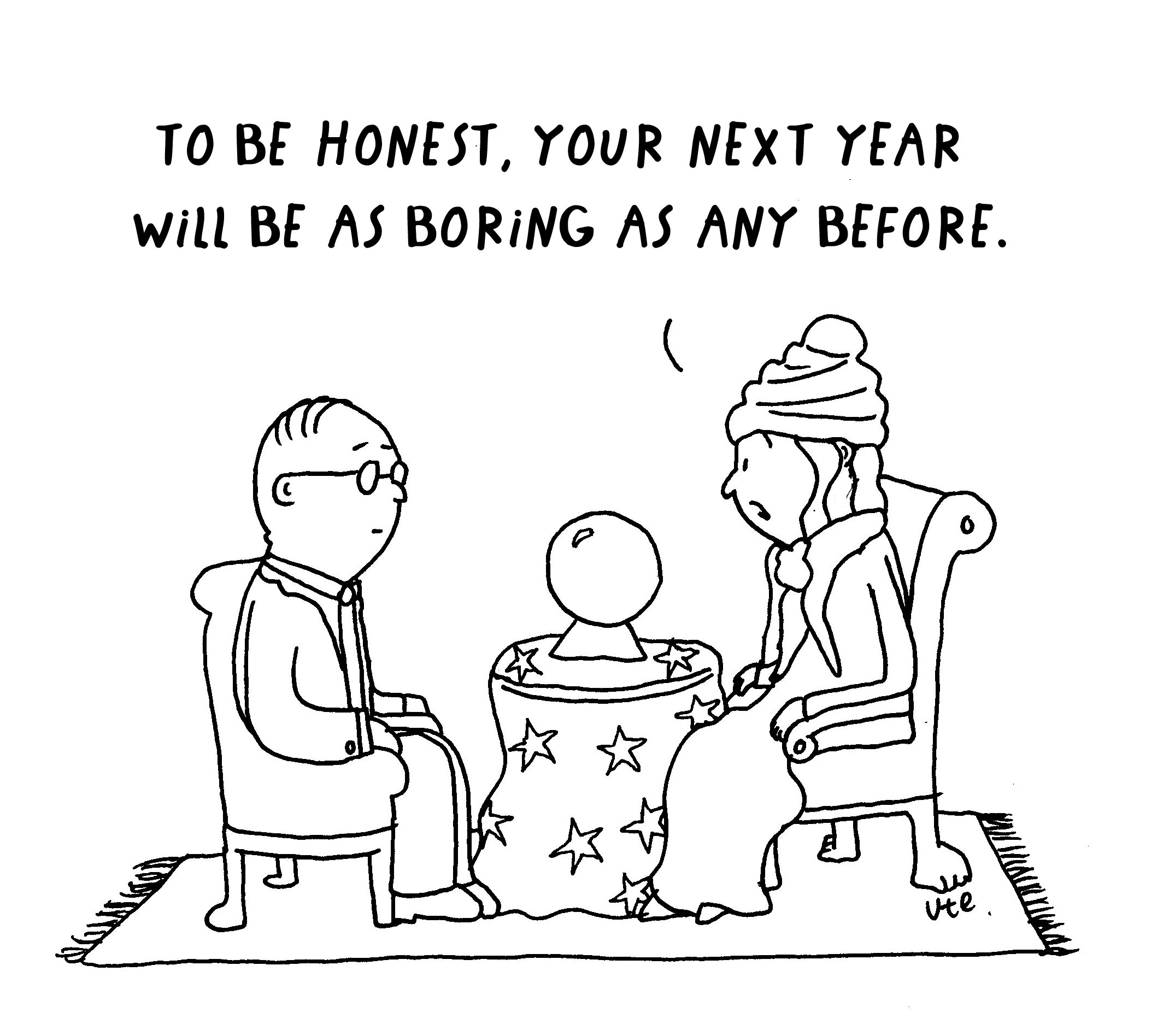 Cartoon Fortune Teller New Year