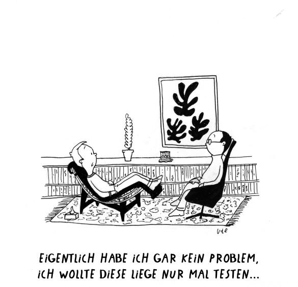 Cartoon Psychologist Le Corbusier