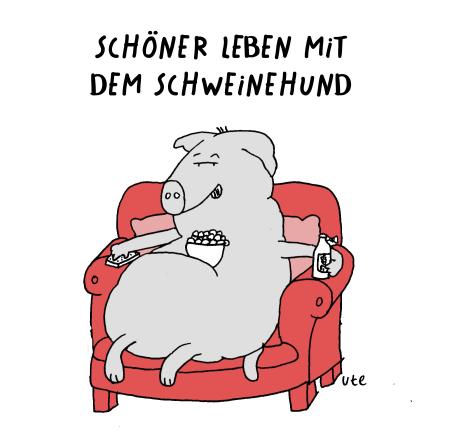 Cartoon Schweinehund Illustration