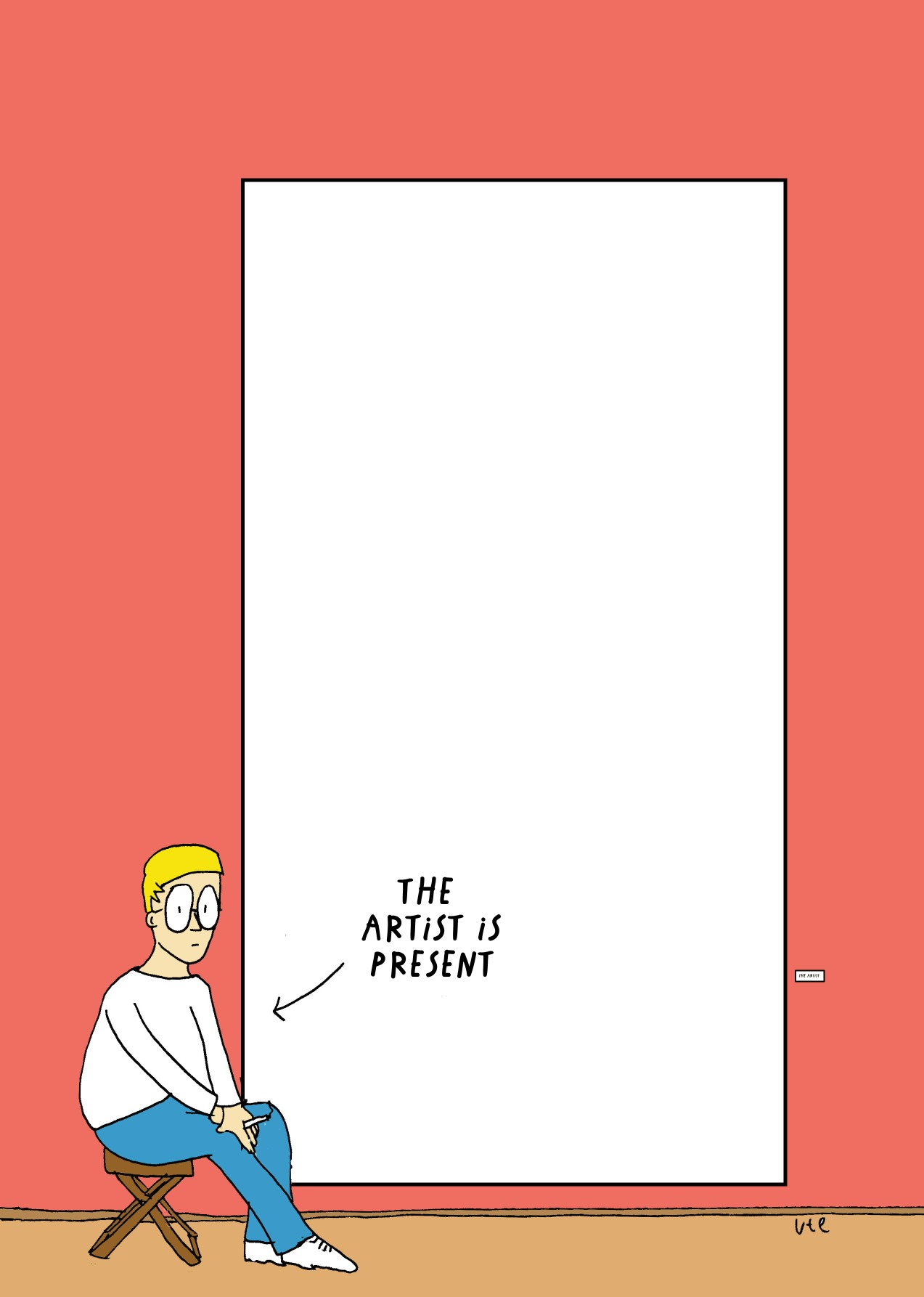 Cartoon Illustration: The Artist is present by Ute Hamelmann