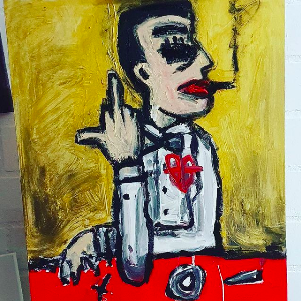 Ute Hamelmann, Gehirn Gehacktes 1, Painting, Acryl on Canvas, Expressive